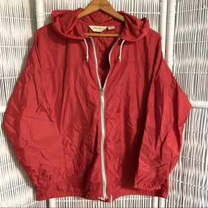 ❤️ EDDIE BAUER light-weight red windbreaker jacket